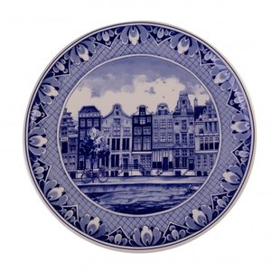 Delfter Blau - Wandteller - Amsterdamer Grachtengürtel.