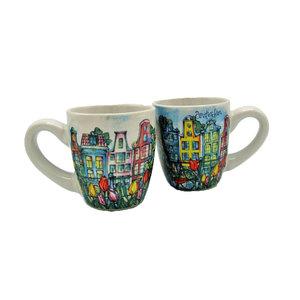Typisch Hollands Espresso mugs - Giftbox 2 cups Amsterdam