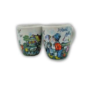 Typisch Hollands Espressotassen - Geschenkbox 2 Tassen Holland