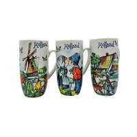 Typisch Hollands Geschenkset van 3 koffiebekers - Holland