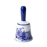 Tafelbel groot grachtenhuizen - Delfts blauw