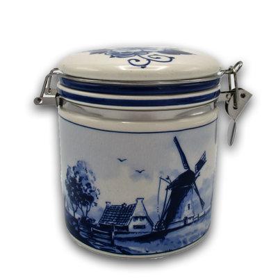 Typisch Hollands Delfts blauwe weckpot - Molen