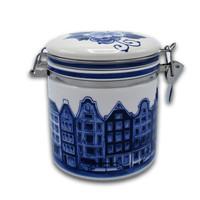 Typisch Hollands Delfter Blauer Konservierungsbehälter - Fassadenhäuser