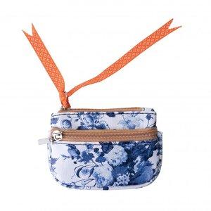 Typisch Hollands Sleuteltasje - Delfts blauw - Orange touch