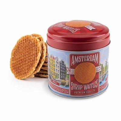 Typisch Hollands Stroopwafels in blik Amsterdam - Nostalgie-d`oude stad Amsterdam