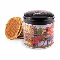 Typisch Hollands Stroopwafels in a stacked tin - Amsterdam - Bicycle