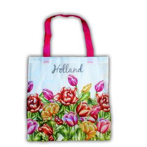 Typisch Hollands Tasche - faltbar - Mehrfarbige Tulpen