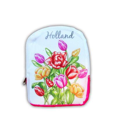 Typisch Hollands Tas - opvouwbaar - Multicolor tulpen