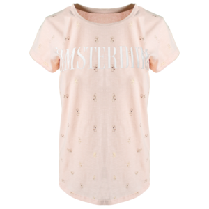 Holland fashion Dames T-Shirt - Amsterdam - Chique - Pink&Gold bikes