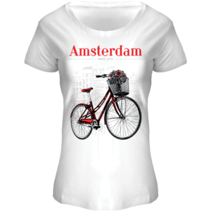 FOX Originals T-Shirt Amsterdam - Boat Neck Bike