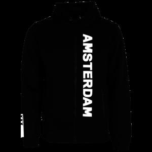 Holland fashion Hooded Zip sweater - black - (Collegiate) Amsterdam