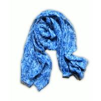 Typisch Hollands Damesjaals Holland- Viscose - Sjaal - Delfts blauw
