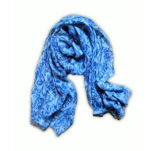 Typisch Hollands Damesjaals Holland- Sjaal - Delfts blauw