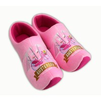 Typisch Hollands Clog slippers Bicycle - skinny bridge Amsterdam - Pink