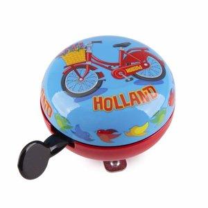 Typisch Hollands Kinder fietsbel blauw - Holland (ouderwetse ding-dong)