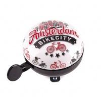 Typisch Hollands Altmodische Ding-Dong-Fahrradklingel-Fahrradstadt - Holland - Amsterdam