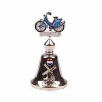 Typisch Hollands Hand bell color bicycle Holland shiny silver