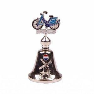 Typisch Hollands Glockenfarbe Fahrrad Holland glänzend silber