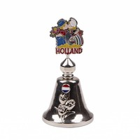 Typisch Hollands Handbell color kissing pair of shiny silver