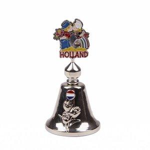 Typisch Hollands Tafelbel kleur kussend paar shiny zilver