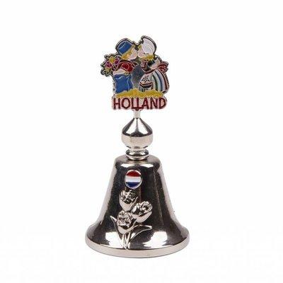 Typisch Hollands Handbell Farbe küssendes Paar aus glänzendem Silber