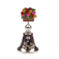 Typisch Hollands Tafelbel kleur tulpen Holland shiny zilver