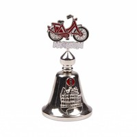 Typisch Hollands Bicycle bell color bike Amsterdam shiny silver