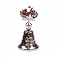 Typisch Hollands Tafelbel kleur fiets Amsterdam shiny zilver