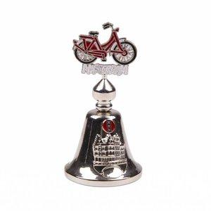 Typisch Hollands Fahrradklingel-Farbfahrrad Amsterdam glänzendes Silber