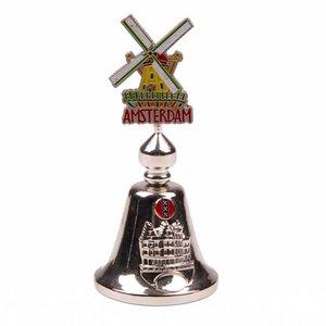 Typisch Hollands Tafelbel-Farbwindmühle Amsterdam glänzendes Silber