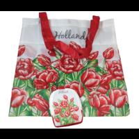 Typisch Hollands Tasche - Faltbar - Tulpen - Rot