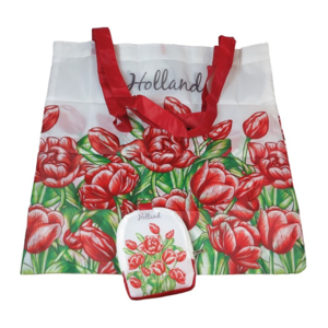 Typisch Hollands Bag - Foldable - Tulips - Red