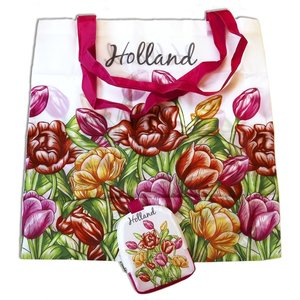 Typisch Hollands Bag - foldable - Multicolor tulips