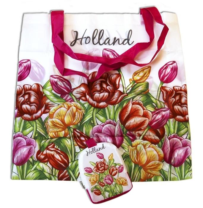 00eba1d794c Tas - opvouwbaar - Multicolor tulpen - Typisch Hollands ...