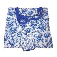 Typisch Hollands Tas - Opvouwbaar Delfts blauw - Tulpen