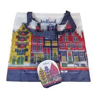 Typisch Hollands Tas opvouwbaar gekleurde gevels