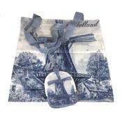 Typisch Hollands Nylon Bag - Foldable -Delfts blue