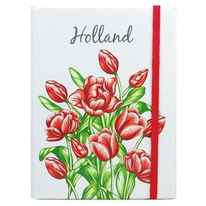 Typisch Hollands Notebook Tulips Red Holland