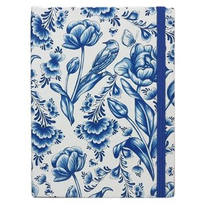 Typisch Hollands Notebook Delft blue tulips