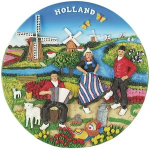 Typisch Hollands Holland - Wandteller - Vollfarbe 13cm