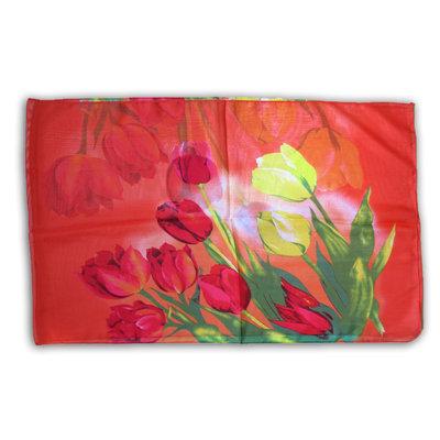 Typisch Hollands Voile - Damessjaal Tulpen