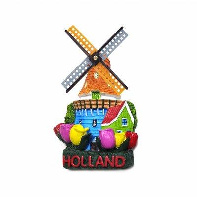 Typisch Hollands Typisch Hollandse souvenirs - Magneet molen & tulpen Holland