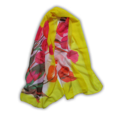 Typisch Hollands Voile - Women's Scarf Tulips
