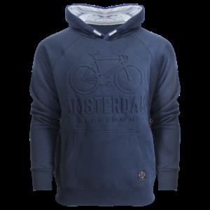 Holland fashion Kids hoodie - Amsterdam - Embossed - Navy