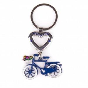 Typisch Hollands Holland Keychain - Bicycle - Blue