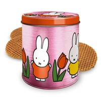 Nijntje (c) Miffy tulip tin pink with stroopwafels