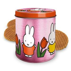 Nijntje (c) Miffy Tulip Tin Pink mit Stroopwafels