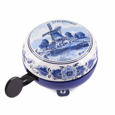 Typisch Hollands Old-fashioned Ding-Dong bicycle bell Delft blue - Holland -