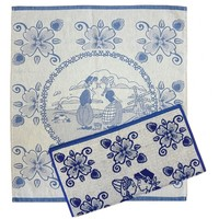 Typisch Hollands Kitchen textile set - Boer + Boerin