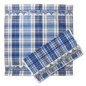 Typisch Hollands Keukentextielset -  Gevelhuisjes Delfts blauw